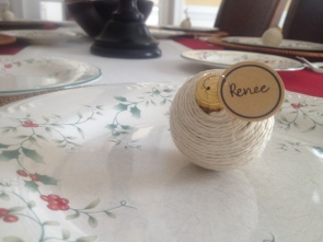 handmade ornament place markers