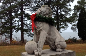 Lions Bridge at Christmastime