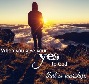 give your yes